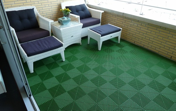 Balkontegel Groen