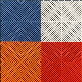Mix Ribdeck Rood, Wit, Blauw en Oranje