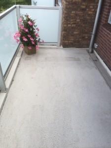 Balkonvloer voor renovatie