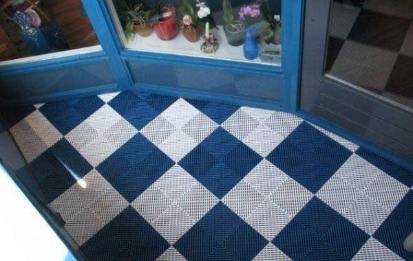 Balkontegel Lichtblauw en Wit