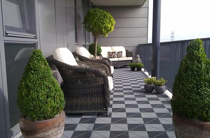 Balkontegel RVS